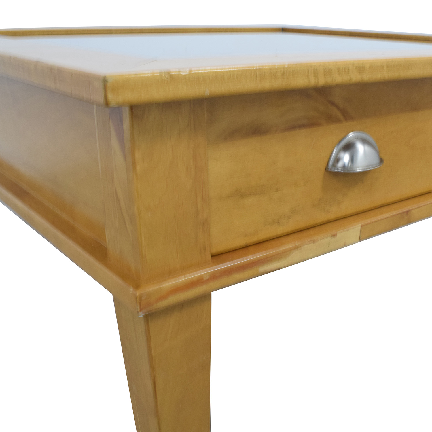 Wooden Shadow Box Square Coffee Table dimensions