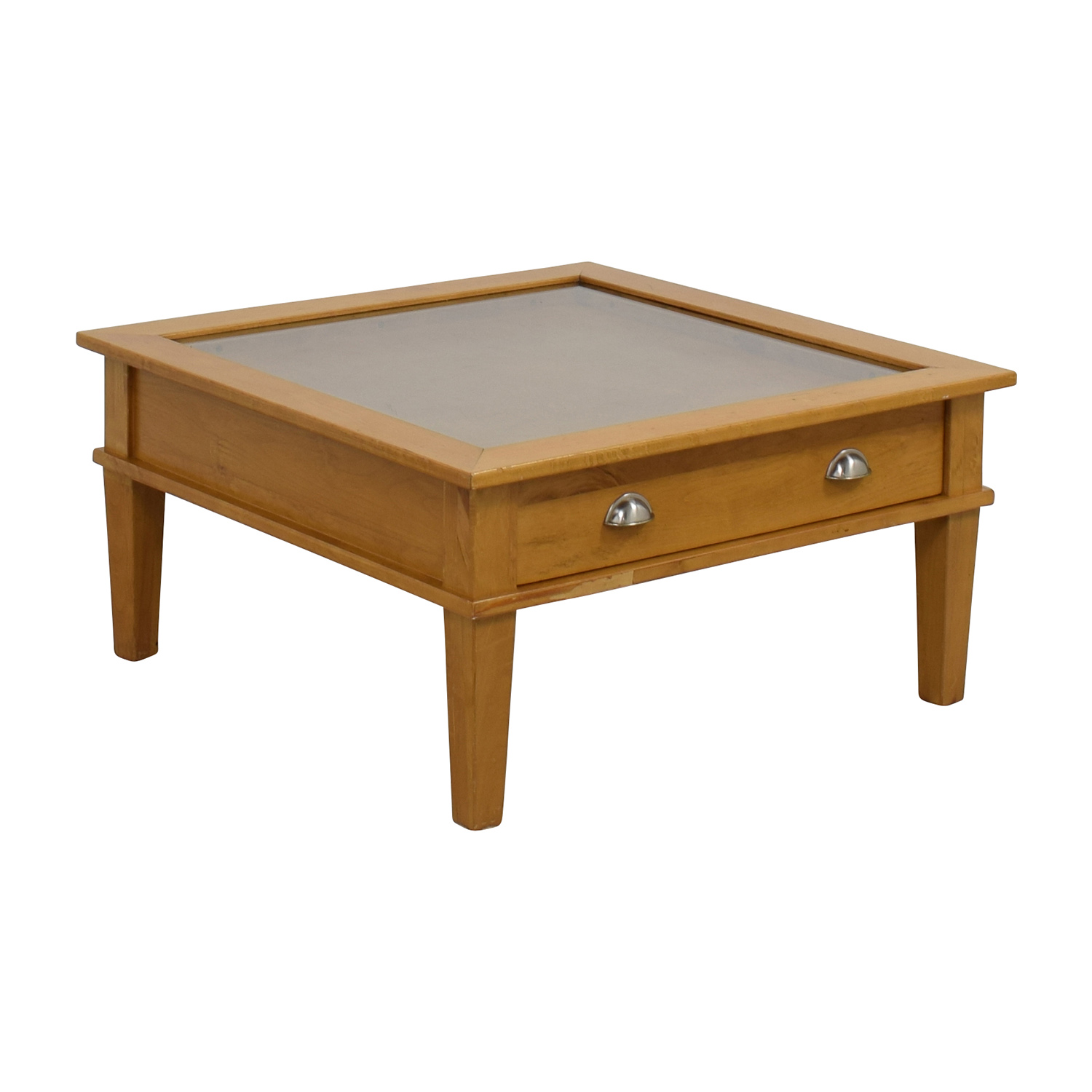 80 off wooden shadow box square coffee table tables Wood square coffee tables