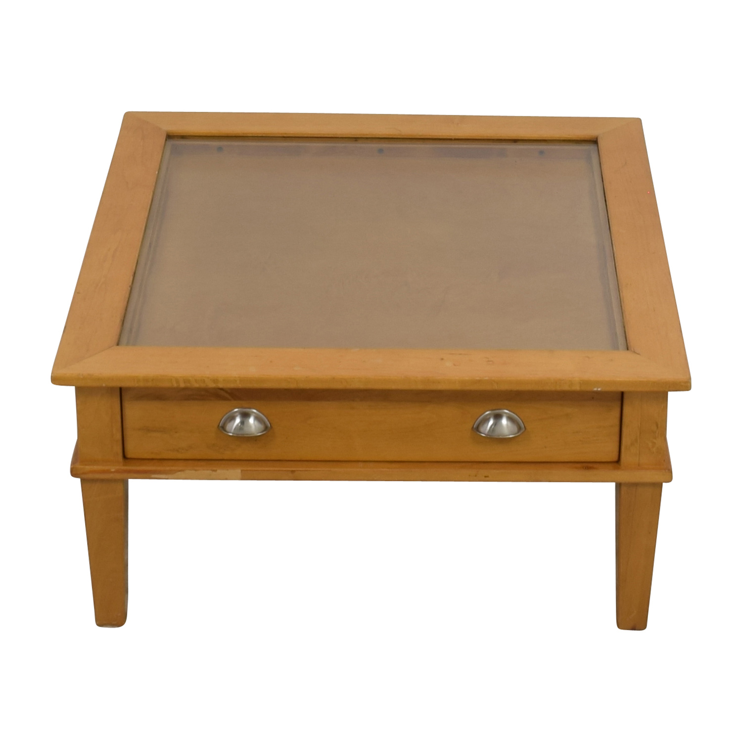 Wooden Shadow Box Square Coffee Table Sale