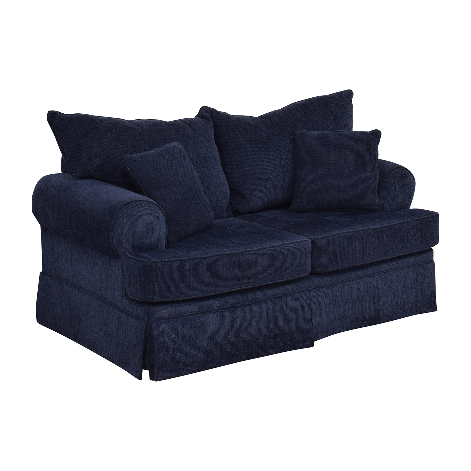 Bobs Furniture Bobs Furniture Deep Blue Loveseat dimensions