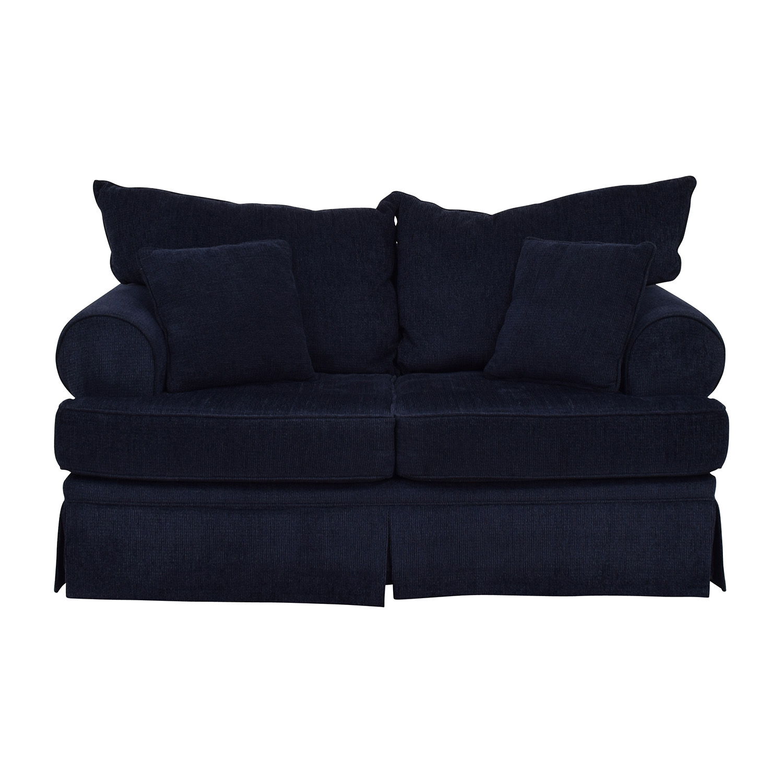 Bobs Furniture Bobs Furniture Deep Blue Loveseat discount