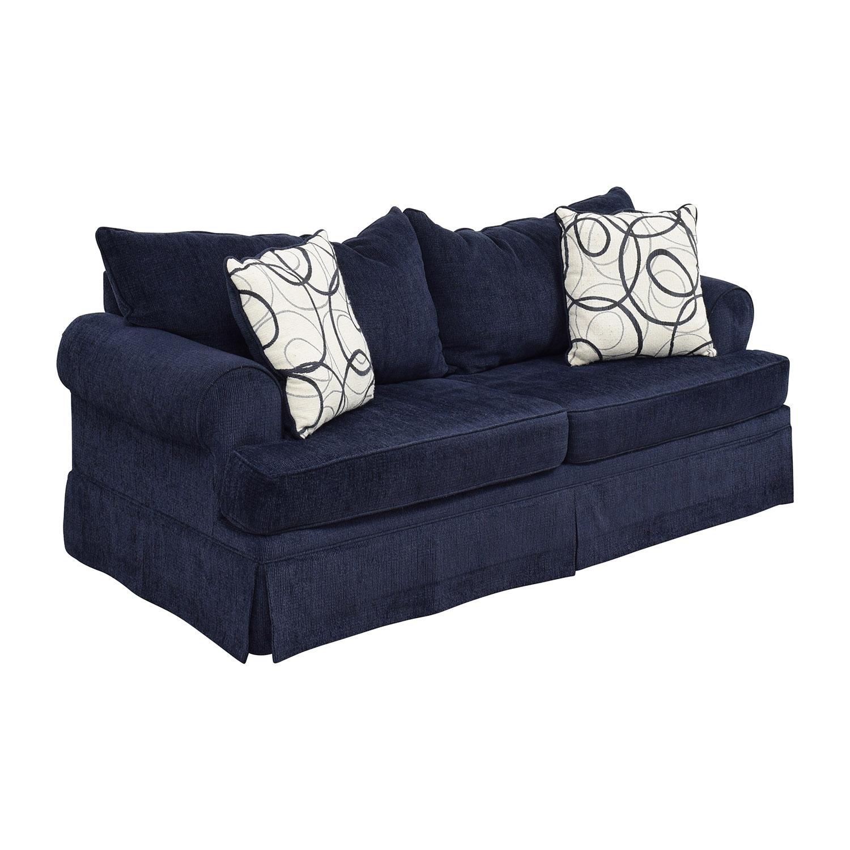 shop Bobs Furniture Deep Blue Sofa Bobs Furniture Sofas