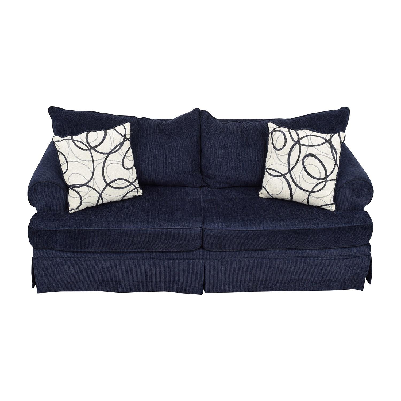 buy Bobs Furniture Deep Blue Sofa Bobs Furniture Classic Sofas