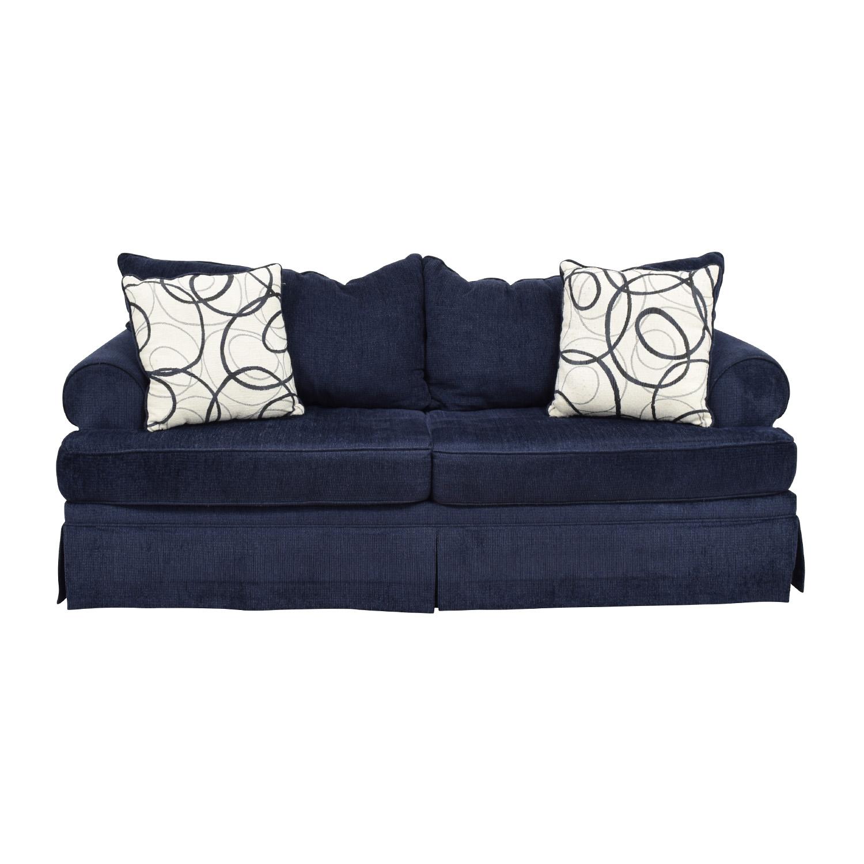 Bobs Furniture Bobs Furniture Deep Blue Sofa on sale