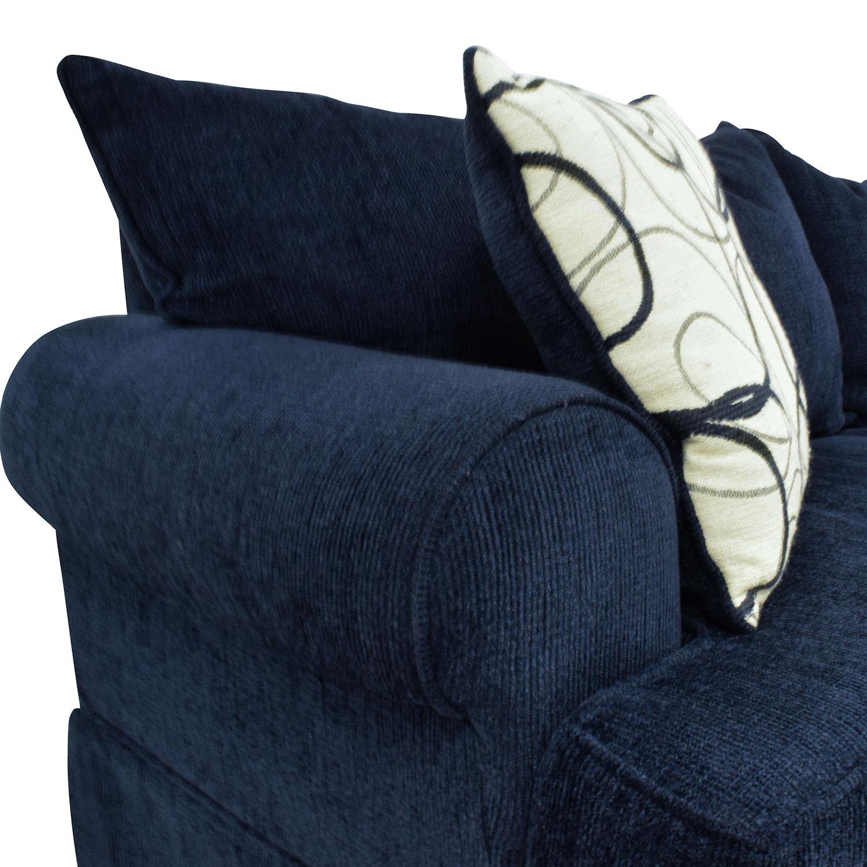 shop Bobs Furniture Deep Blue Sofa Bobs Furniture Classic Sofas