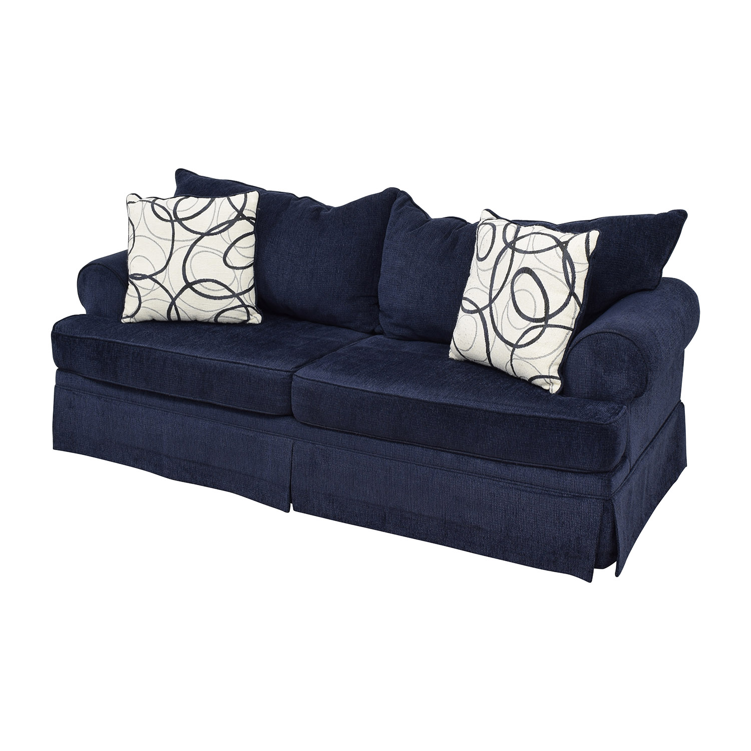 66% OFF Bob s Furniture Bob s Furniture Deep Blue Sofa Sofas