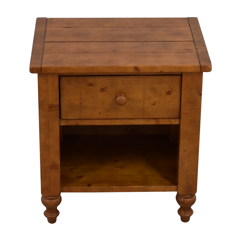 Pottery Barn Pottery Barn Wood Single Drawer Side Table on sale