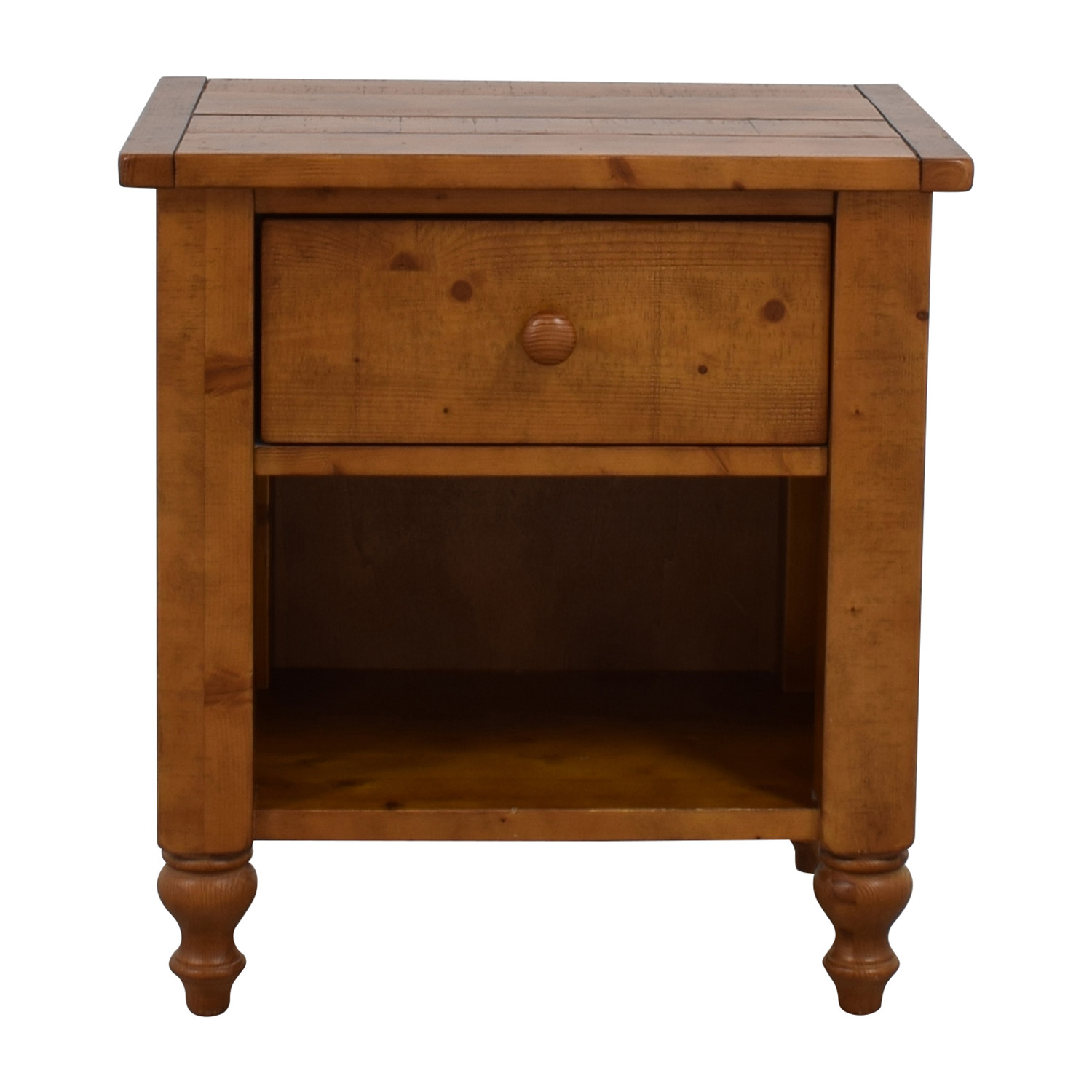 Pottery Barn Pottery Barn Wood Single Drawer Side Table second hand