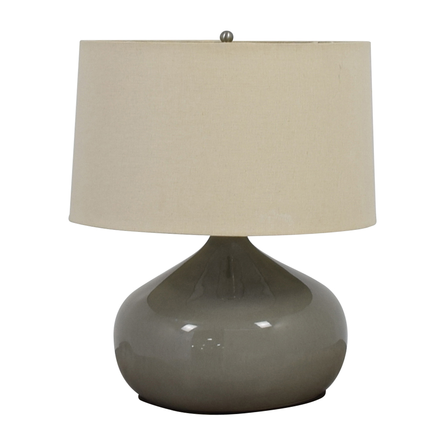 shop Pottery Barn Round Grey Ceramic Table Lamp Pottery Barn Sofas