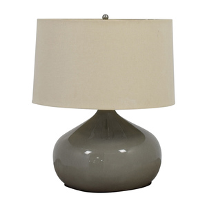 Pottery Barn Pottery Barn Round Grey Ceramic Table Lamp price