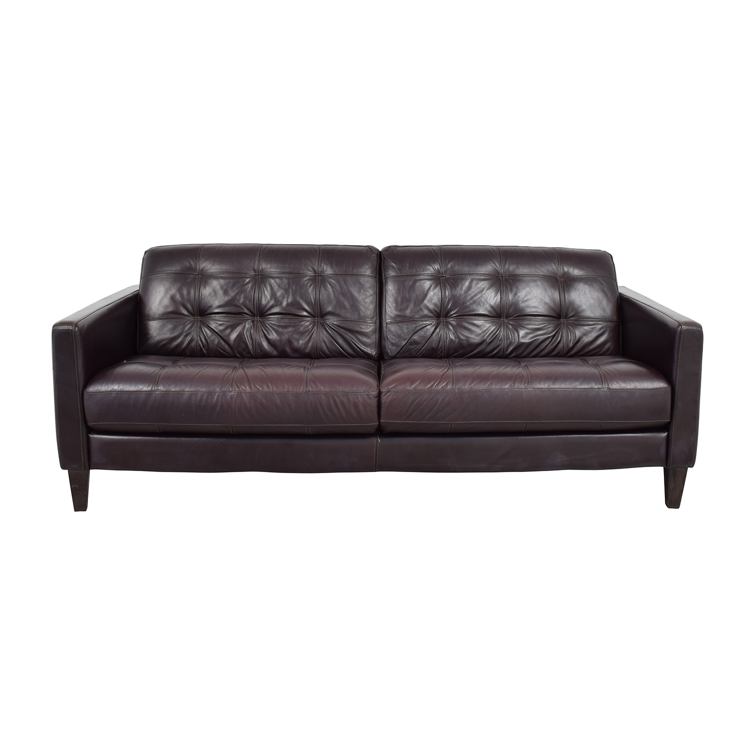 Shop Macys Milan Leather Sofa Macys ...