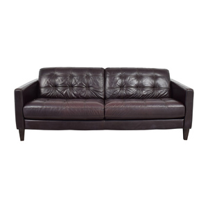 Macy's Macy's Milan Leather Sofa coupon