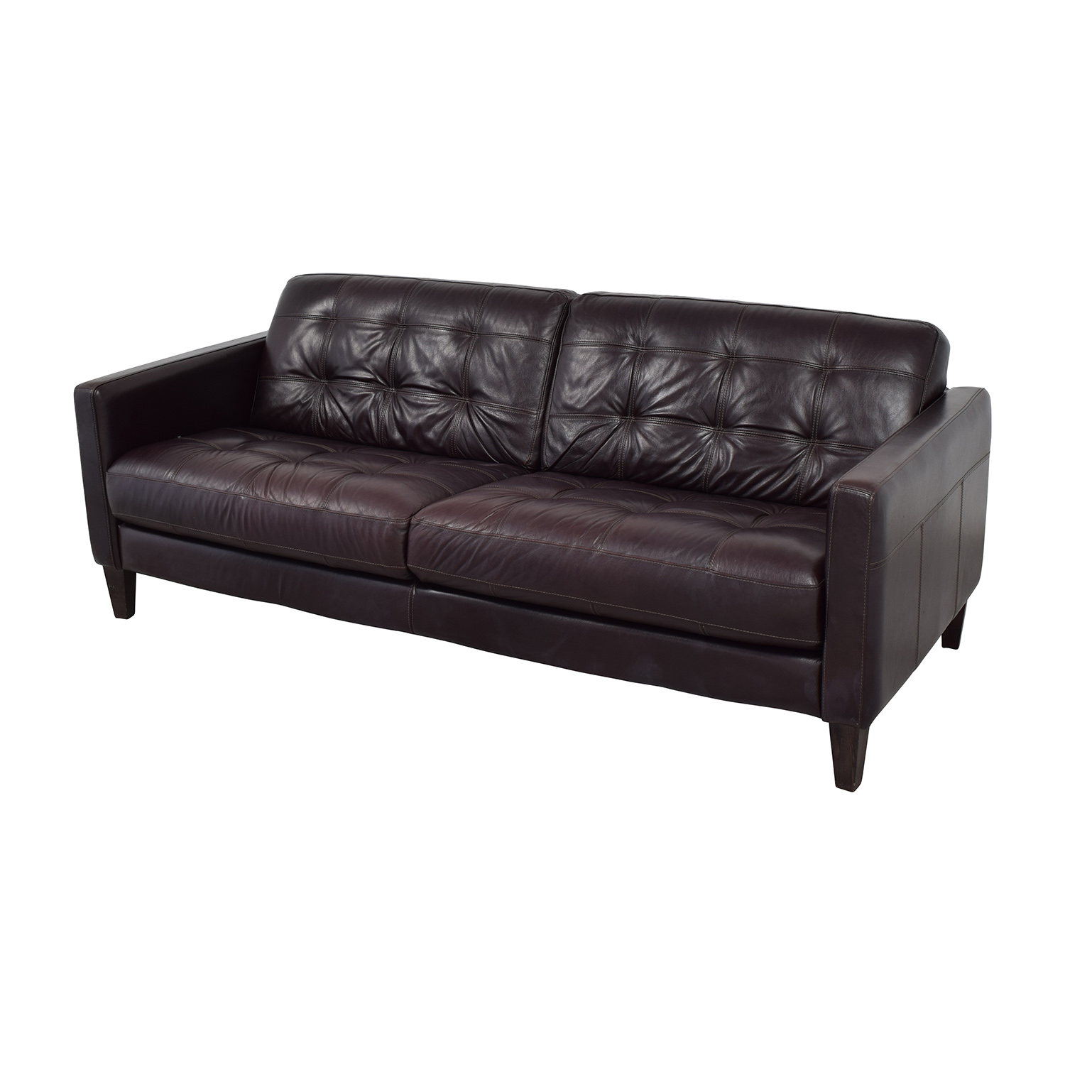 59 off macy 39 s macy 39 s milan leather sofa sofas for Classic loveseat