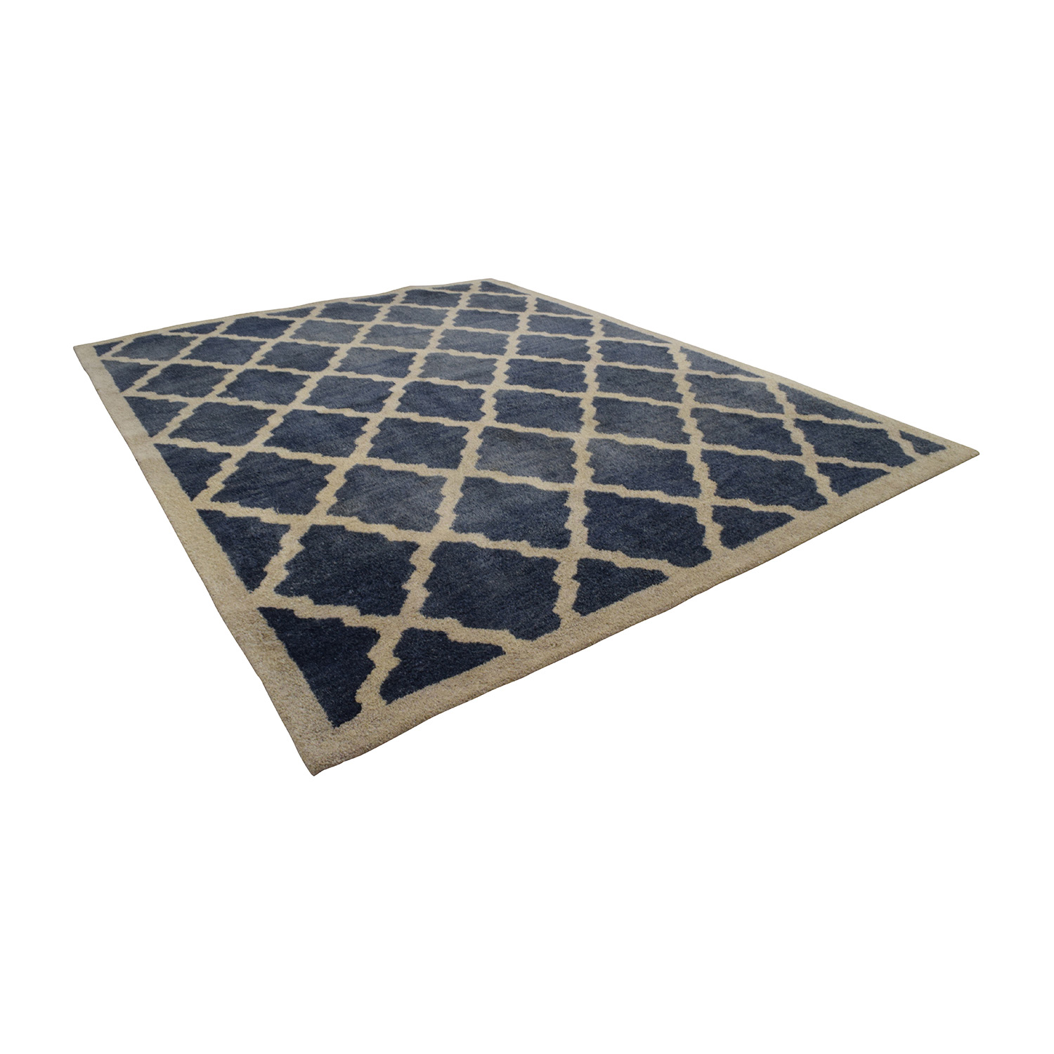 NuLOOM Navy and White Marrakech Trellis Rug sale