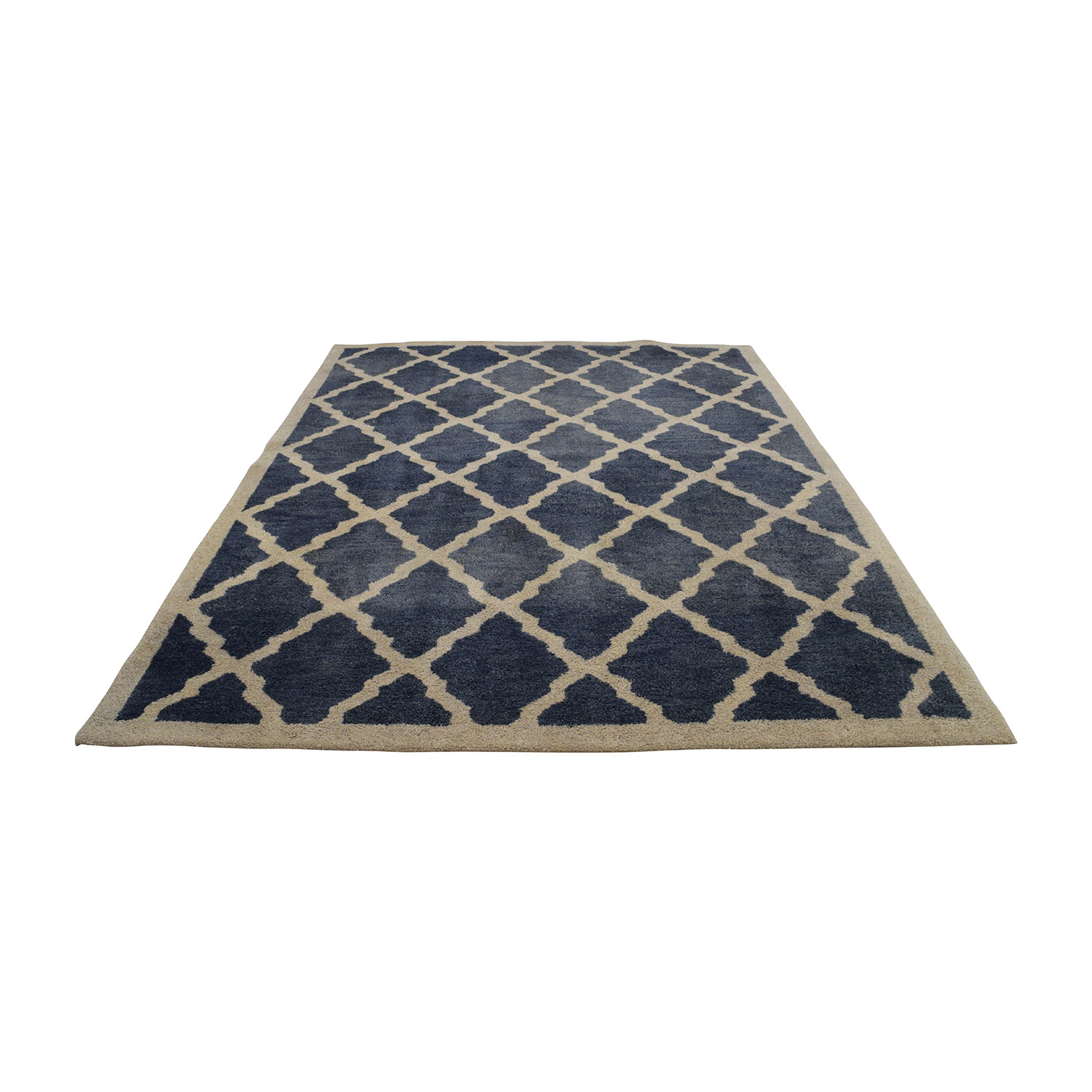 NuLOOM NuLOOM Navy and White Marrakech Trellis Rug nj
