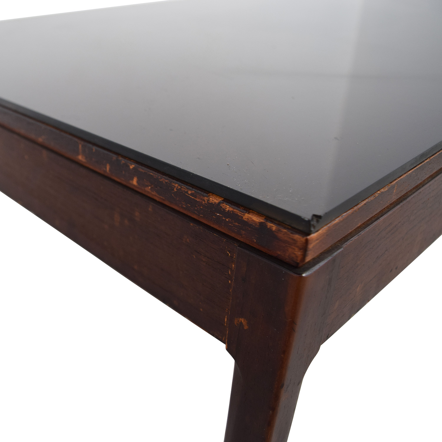 Mid Century Black Top Coffee Table discount