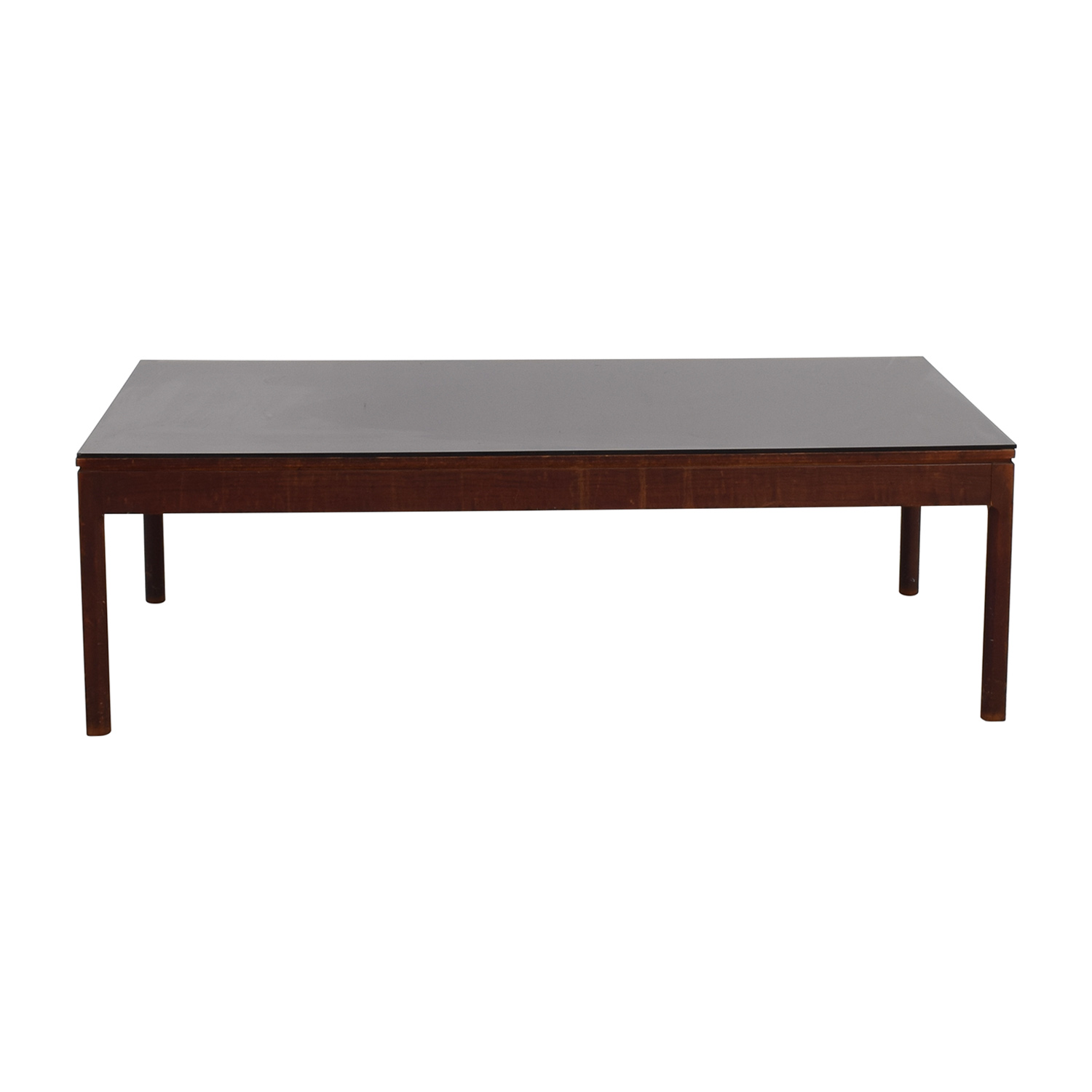 Mid Century Black Top Coffee Table dimensions
