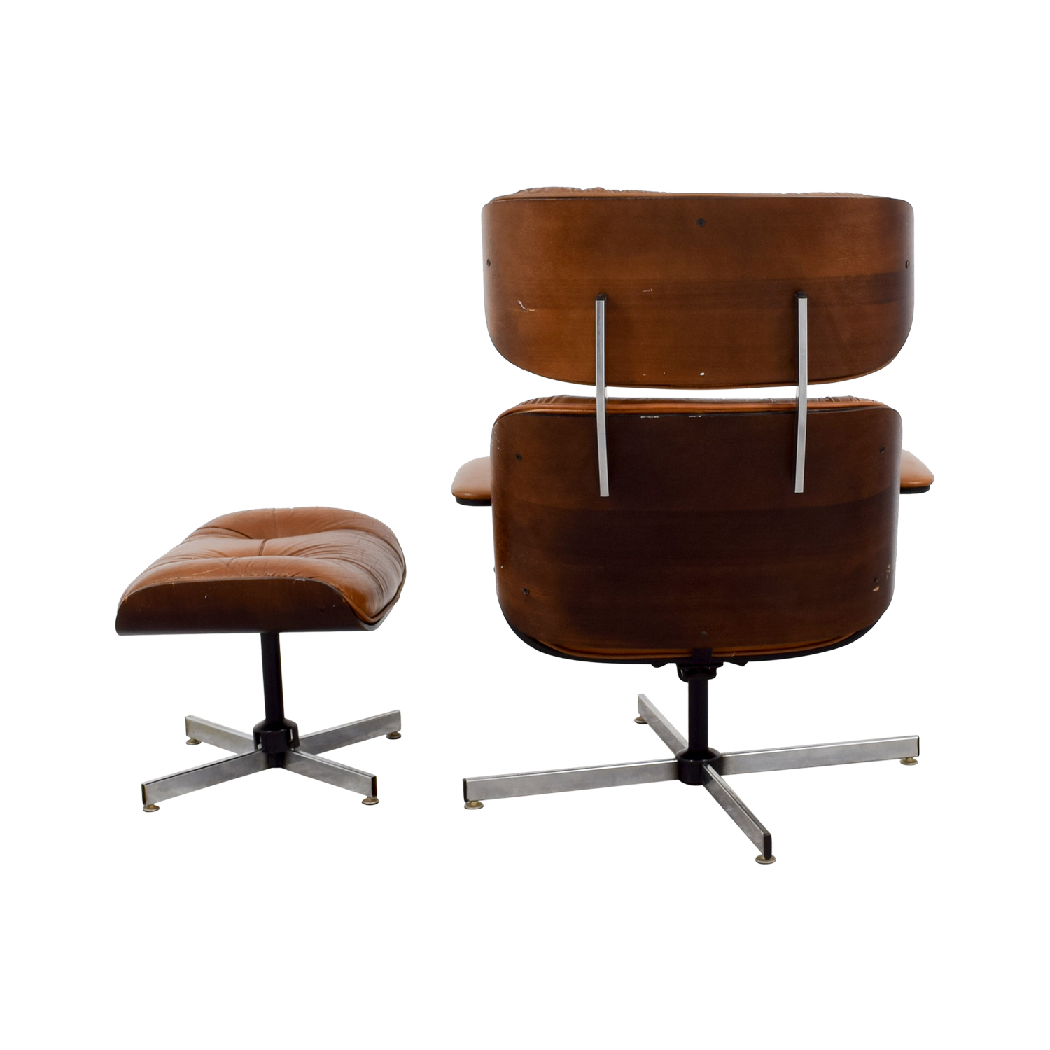 Eames Replica Leather Chair with Ottoman nj