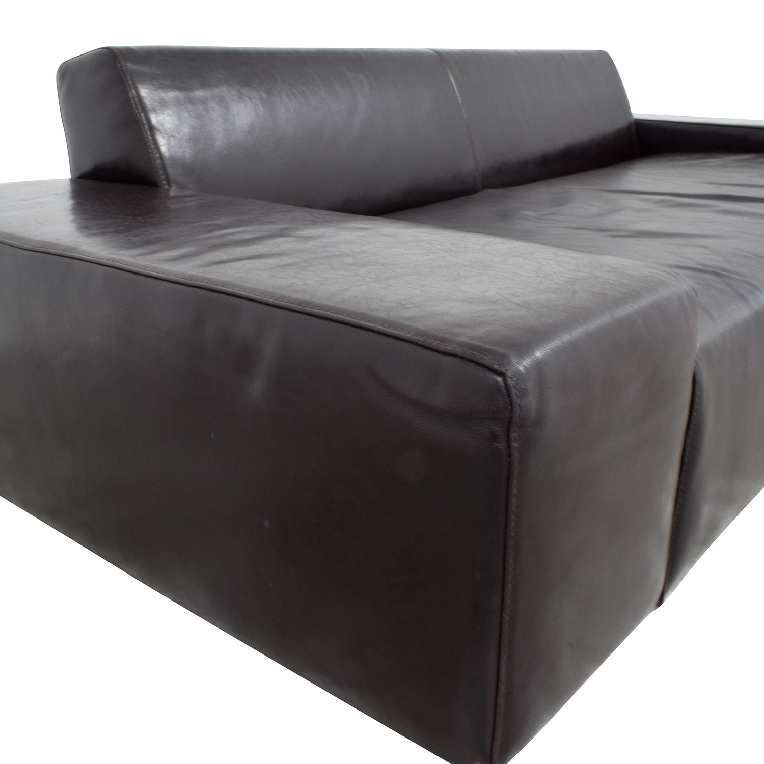 Nuovo Melodrom Nuovo Melodrom Siena Brown Leather Three Cushion Sofa for sale