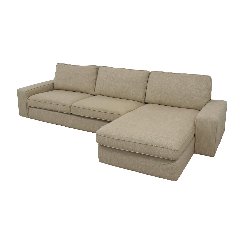 50 Off Ikea Ikea Kivik Sectional In Hillared Beige Sofas