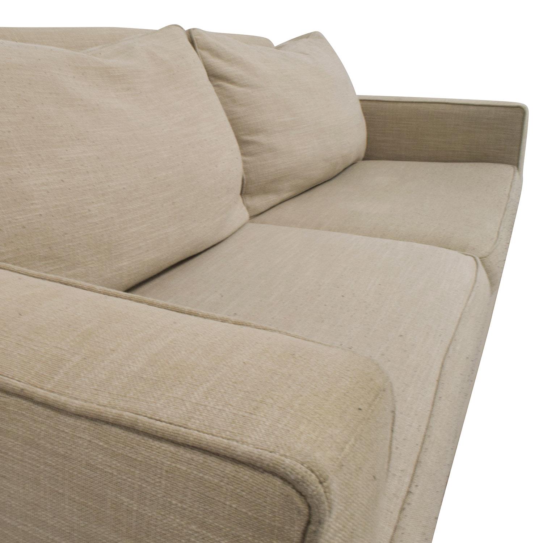 73% OFF West Elm West Elm Henry Beige Sofa Sofas