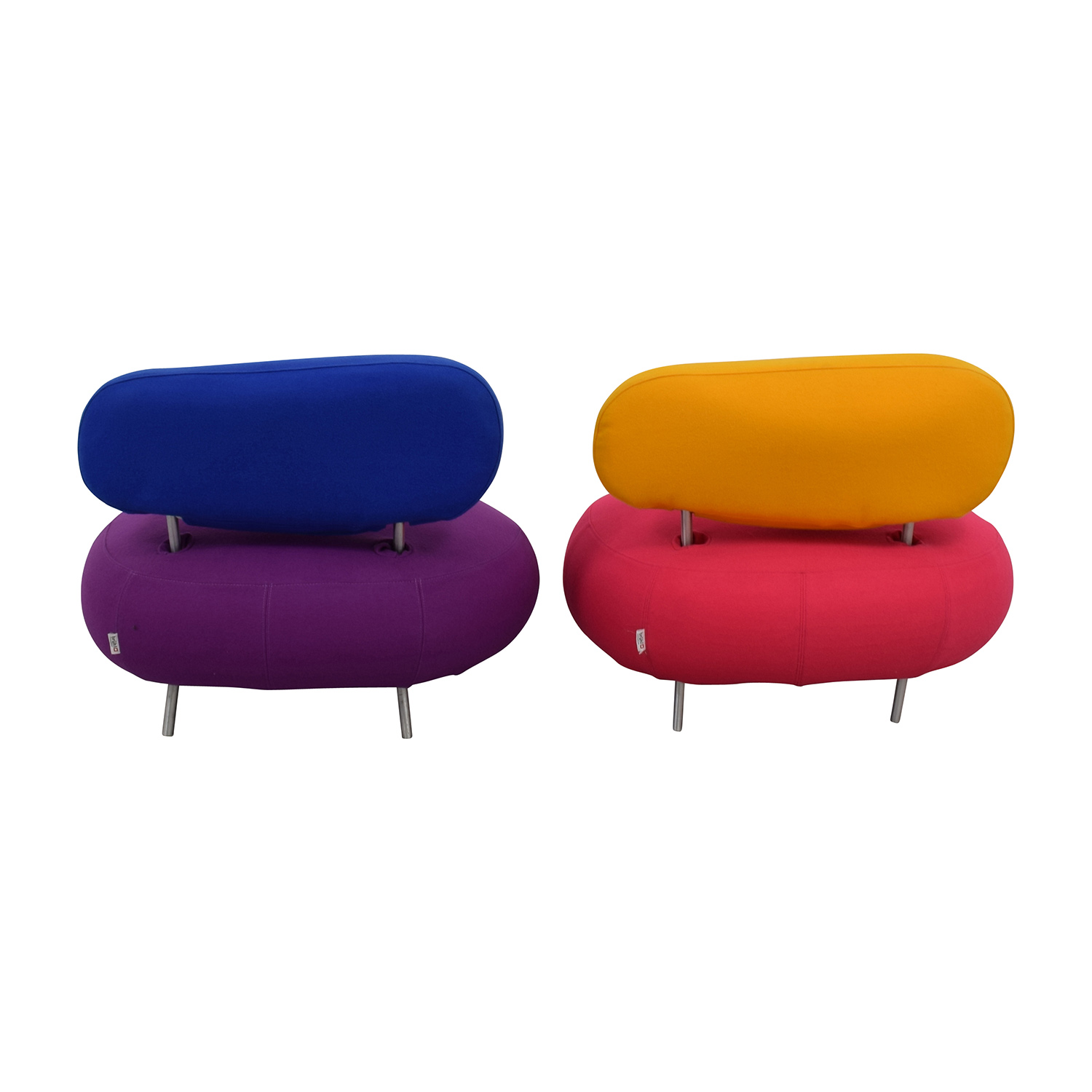 Brühl & Sippold Mosspink Wool Custom Made Chairs / Accent Chairs
