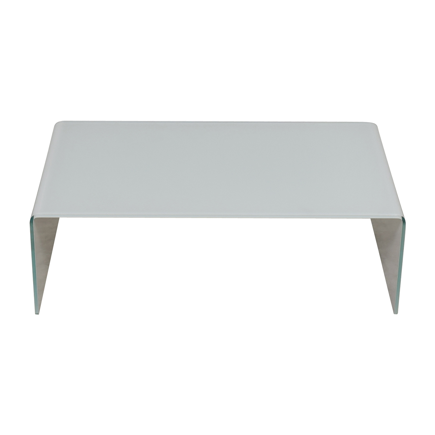 Miniforms Miniforms High-End Curvo White Glass Table for sale