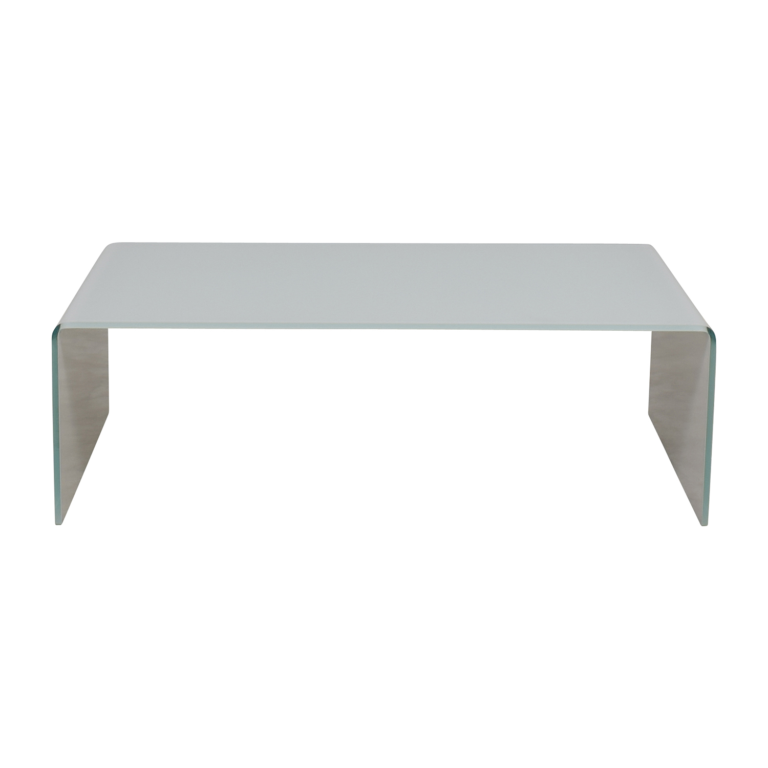 Miniforms Miniforms High-End Curvo White Glass Table on sale
