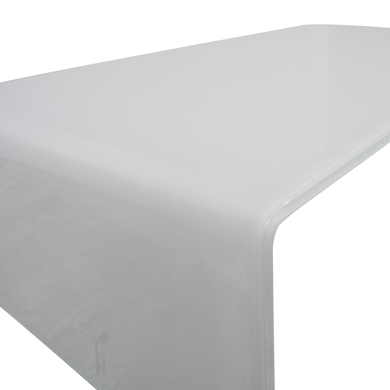 Miniforms Miniforms High-End Curvo White Glass Table nj
