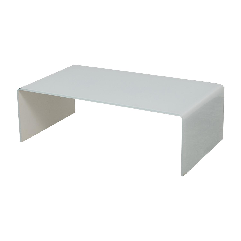 67% OFF Miniforms Miniforms High End Curvo White Glass Table