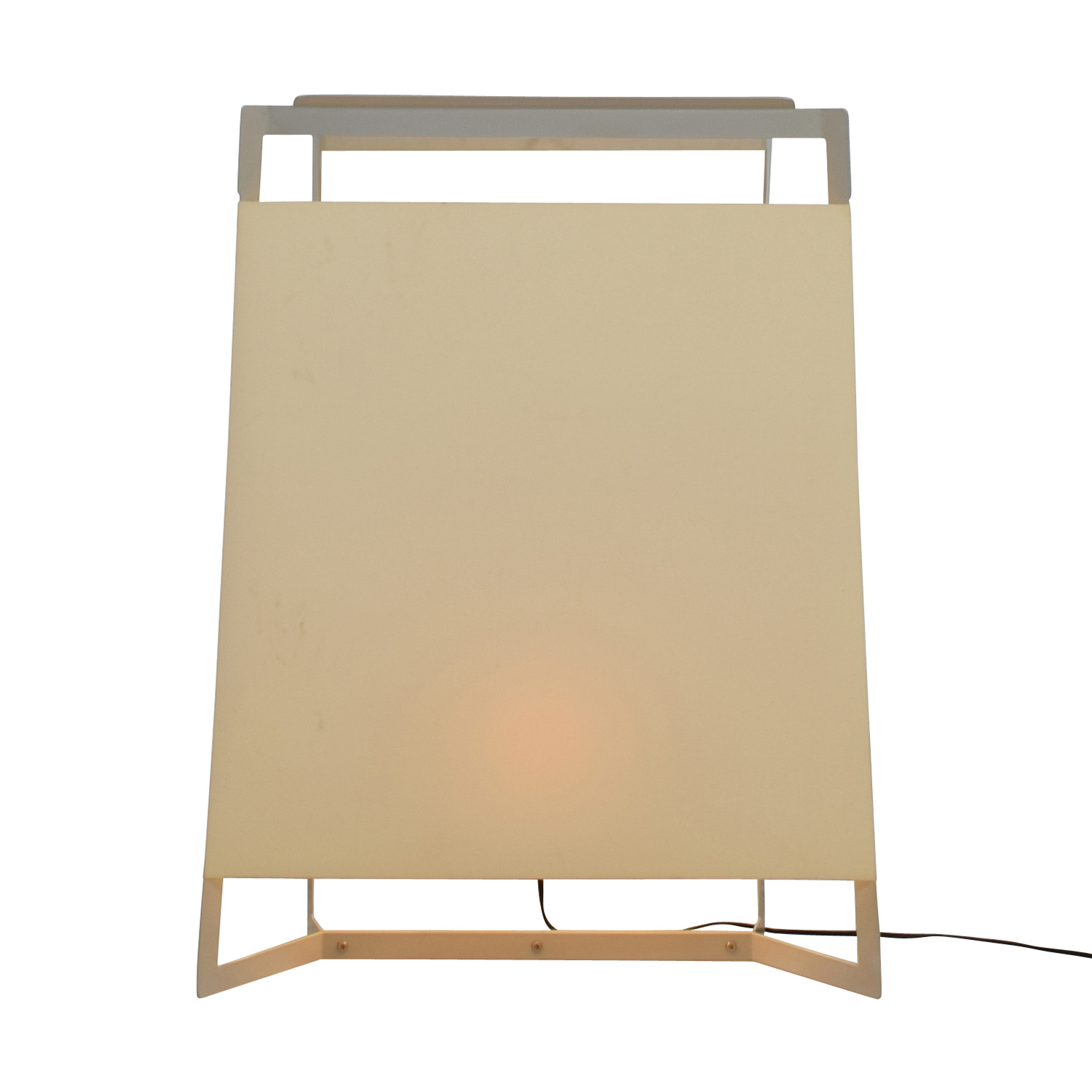 Shop Crate U0026 Barrel Ivory Floor Lamp Crate And Barrel