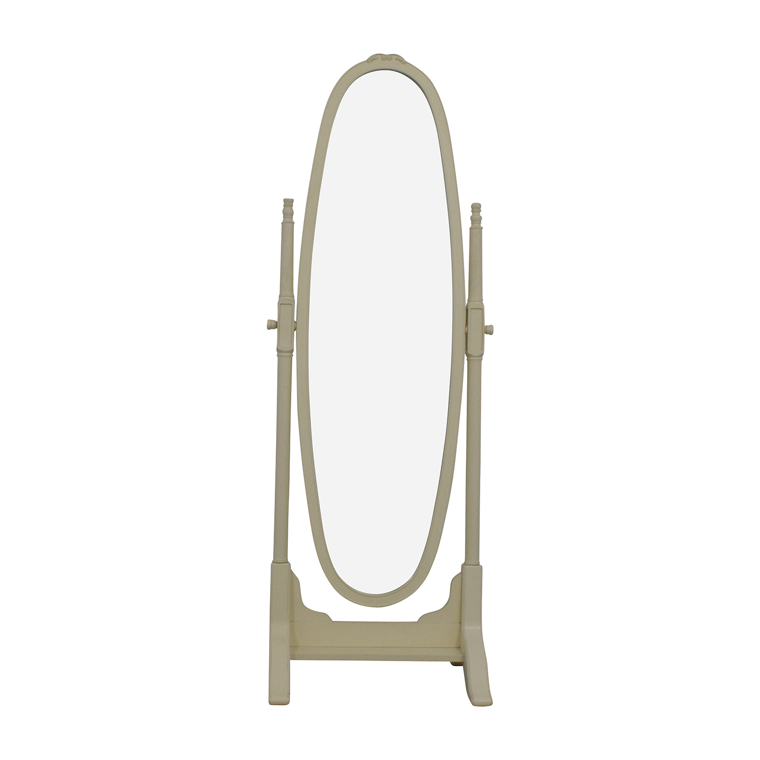 Pottery Barn Pottery Barn Vintage White Oval Floor Mirror used