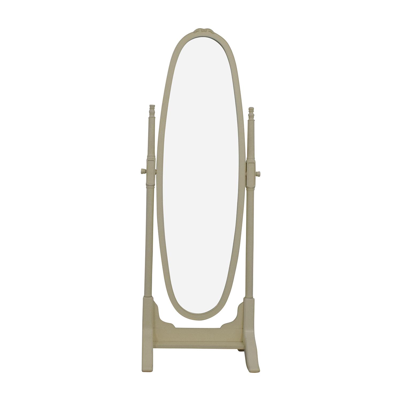shop Pottery Barn Vintage White Oval Floor Mirror Pottery Barn Mirrors