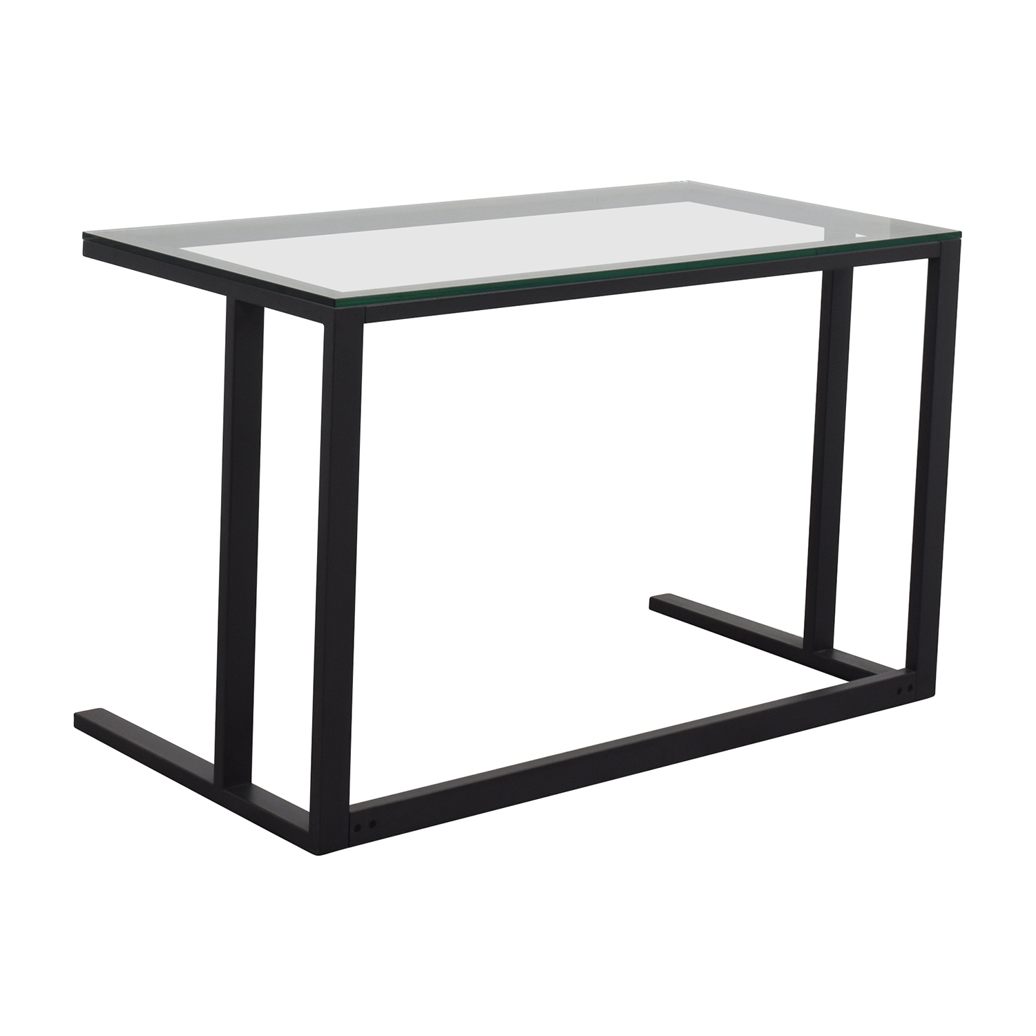 70 Off Crate And Barrel Crate Amp Barrel Glass Desk Tables