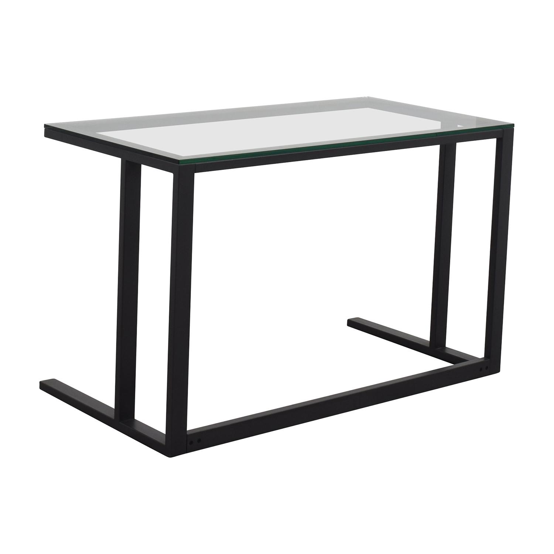 Crate and Barrel Crate & Barrel Glass Desk nj