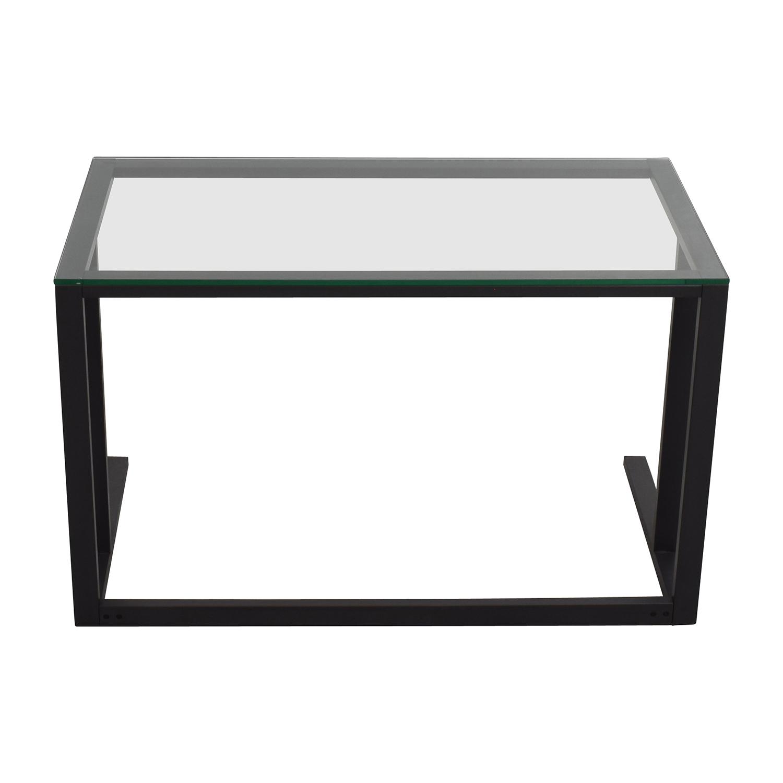 Crate and Barrel Crate & Barrel Glass Desk nyc