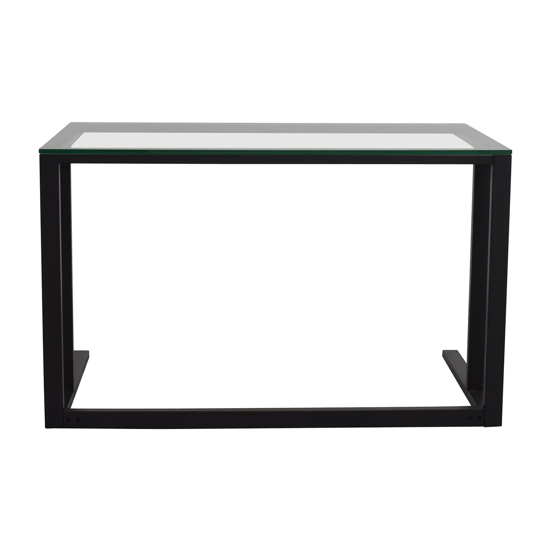 Crate and Barrel Crate & Barrel Glass Desk discount