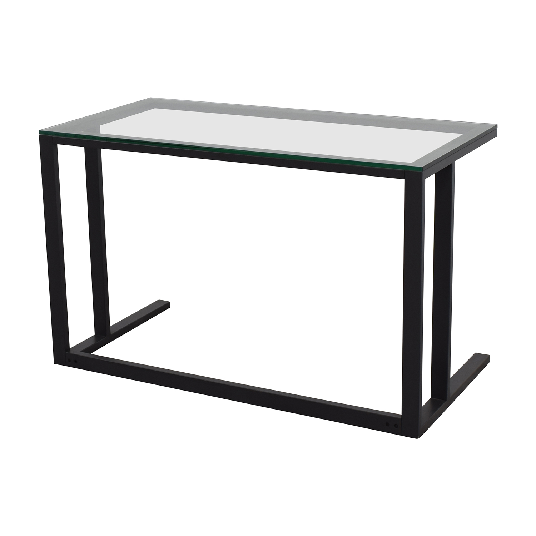 Crate & Barrel Glass Desk sale