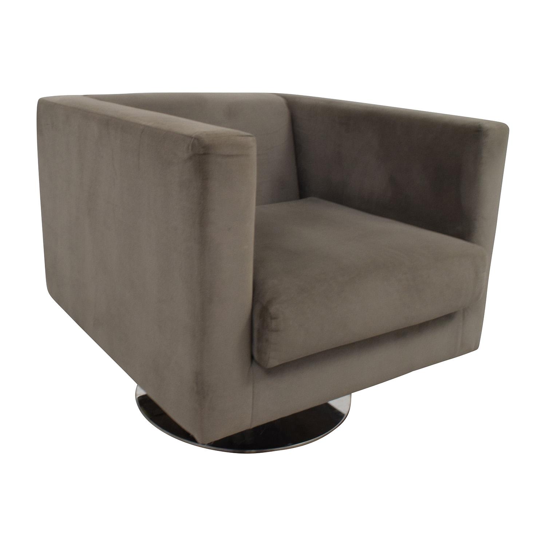 buy Rowe Grey Swivel Chair Rowe
