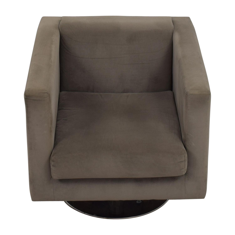 buy Rowe Grey Swivel Chair Rowe Accent Chairs