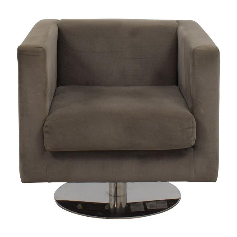 Rowe Rowe Grey Swivel Chair nyc