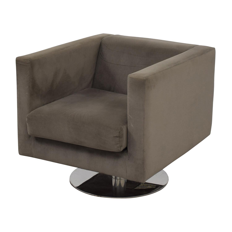 Rowe Rowe Grey Swivel Chair Chairs
