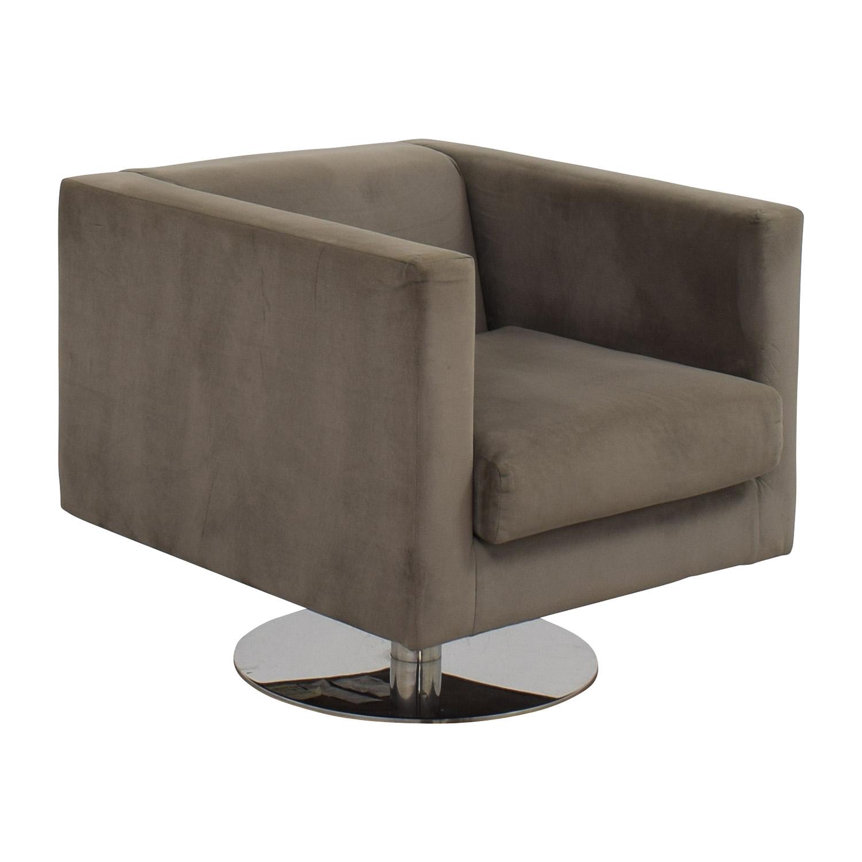 buy Rowe Rowe Grey Swivel Chair online