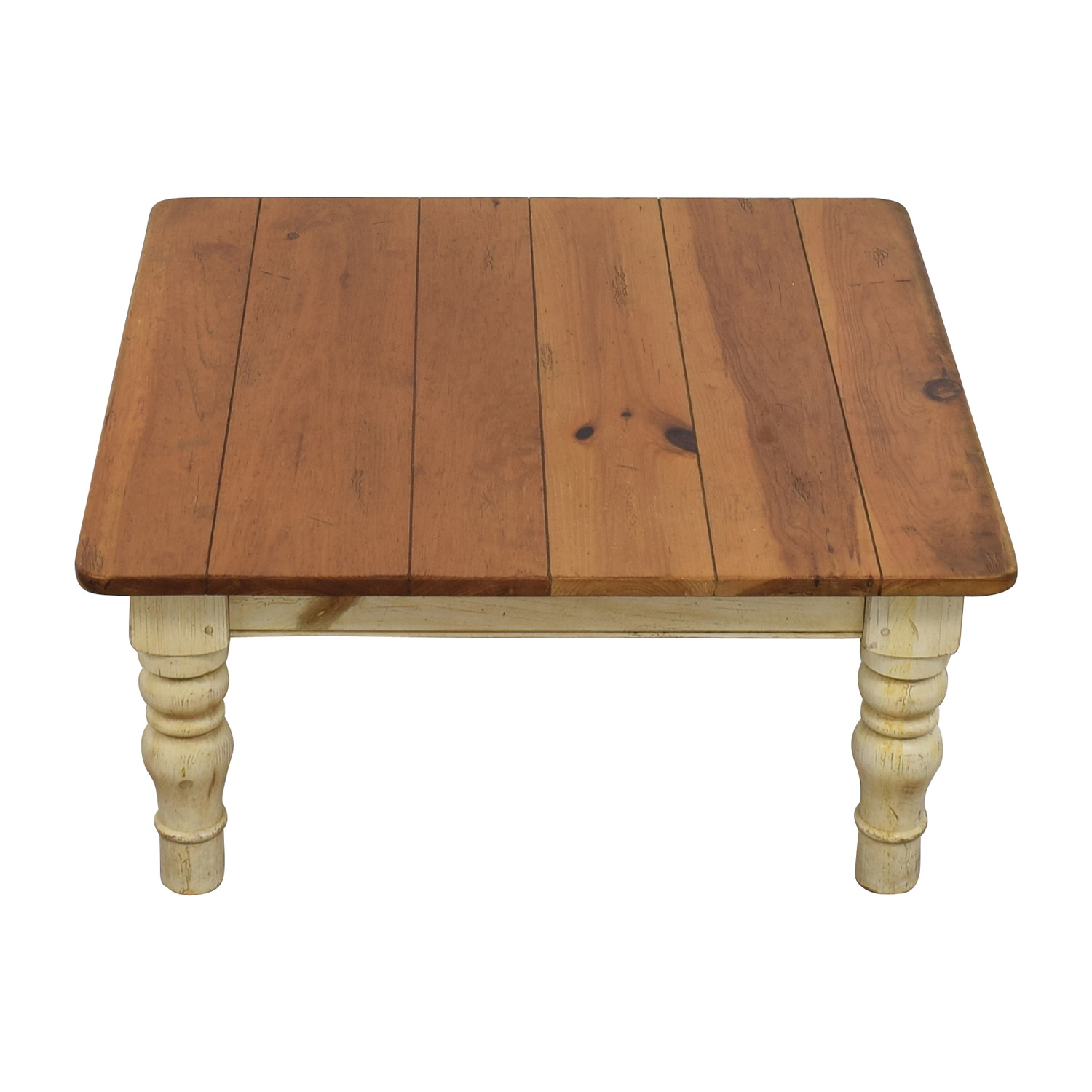 Ethan Allen Ethan Allen Farmhouse Cherry Wood Coffee Table For Sale