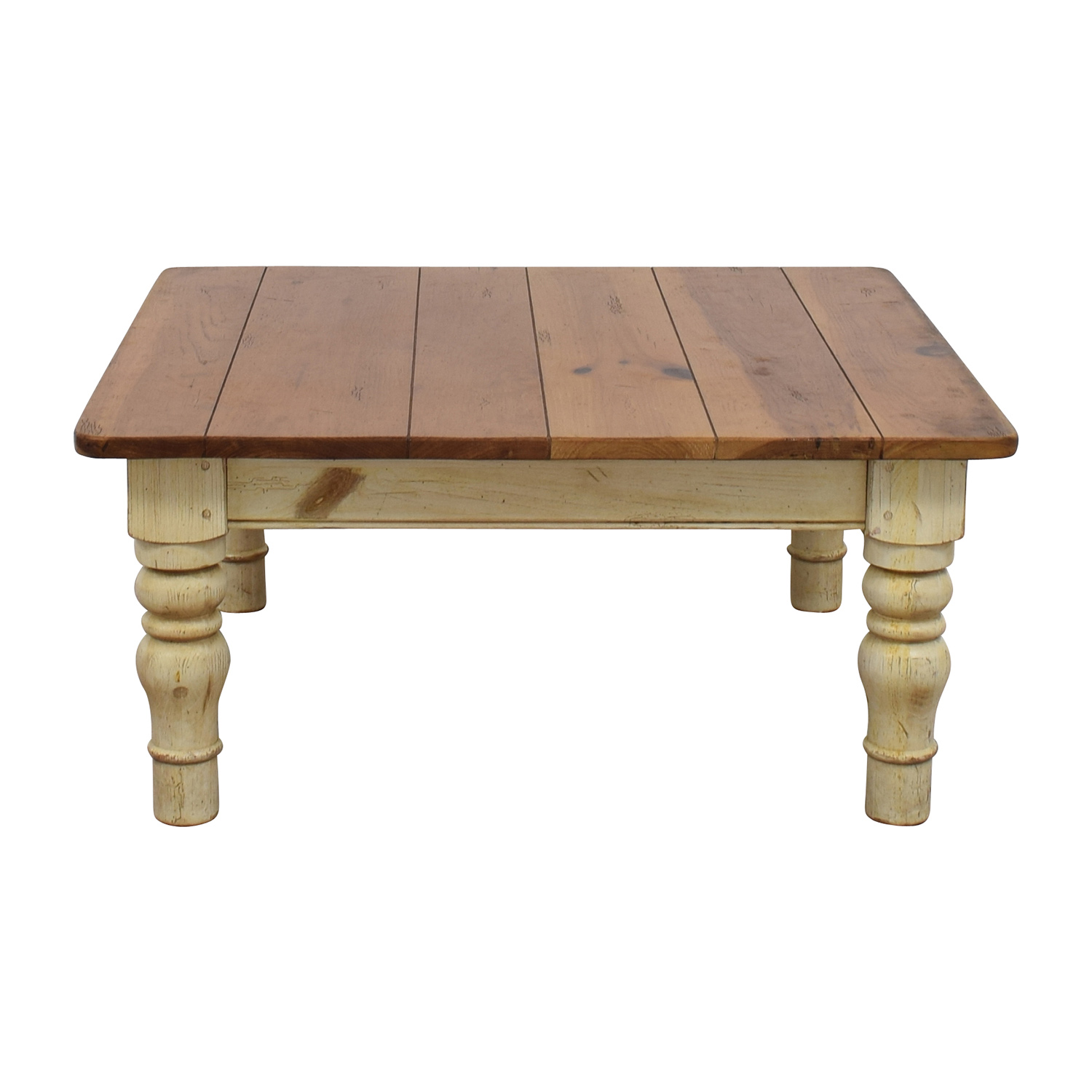 buy Ethan Allen Ethan Allen Farmhouse Cherry Wood Coffee Table online
