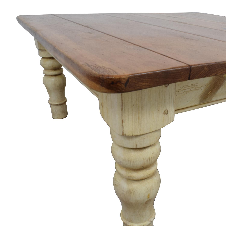 buy Ethan Allen Farmhouse Cherry Wood Coffee Table Ethan Allen Tables