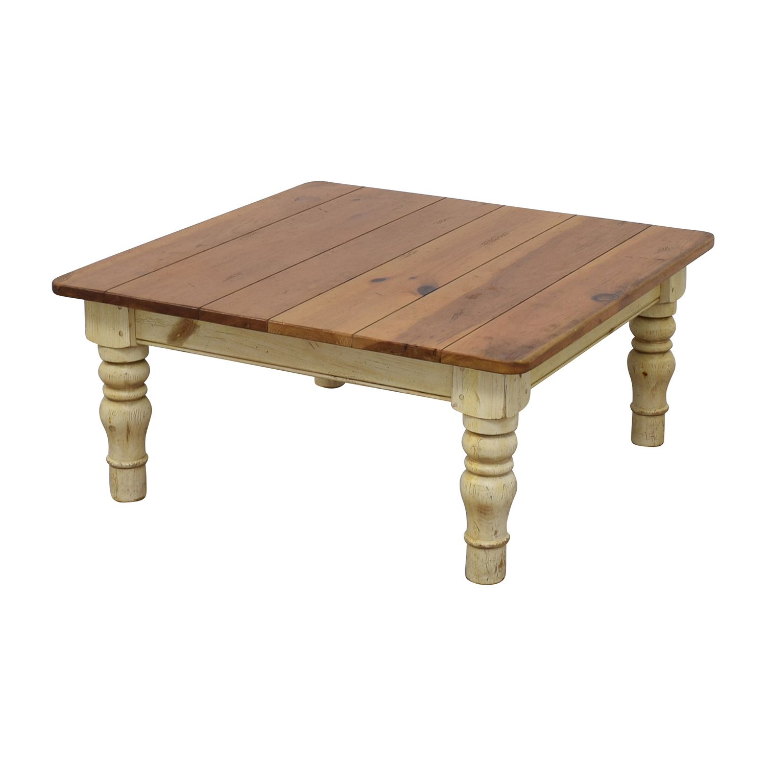 90 Off Ethan Allen Ethan Allen Farmhouse Cherry Wood Coffee Table Tables