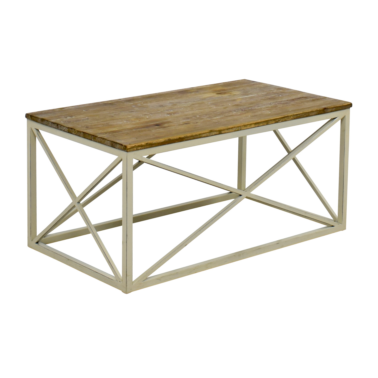 Wayfair Wooden And Metal Coffee Table