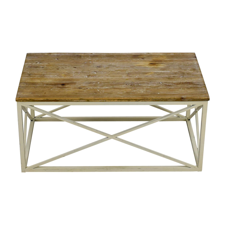buy Wayfair Wooden and Metal Coffee table Wayfair Tables