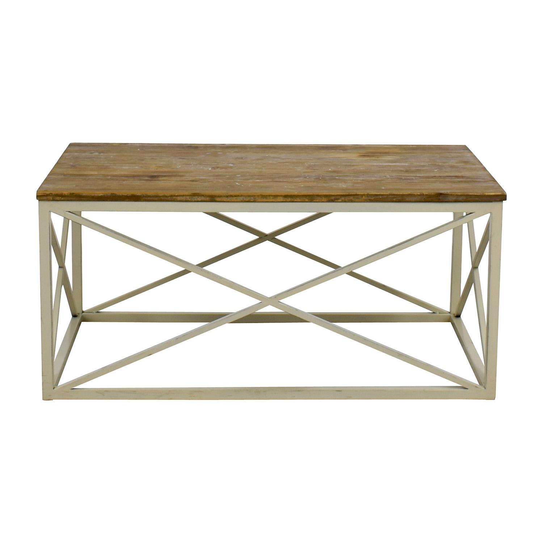 Wayfair Wayfair Wooden and Metal Coffee table second hand